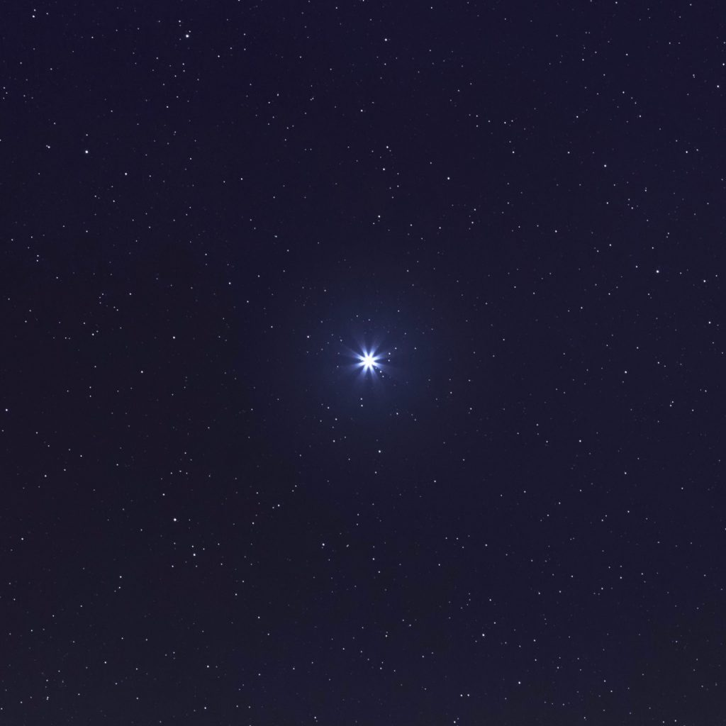 Sirius Brightest star on Night sky. Sirius Star.